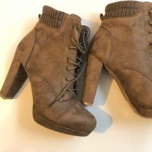 brand new Heel Booties (no box/tags)